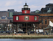Inner Harbor Photos - Seven Foot Knoll Lighthouse - Inner Harbor - Baltimore - Maryland by Brendan Reals
