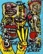 Boxer Mixed Media Prints - Seven Left Print by Robert Wolverton Jr
