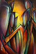 Urban Expressions Framed Prints - Seven Framed Print by Michael Lang