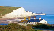 Summer Squall Framed Prints - Seven Sisters Cottage View Framed Print by Michael Stretton