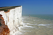 Seven Seas Photo Posters - Seven Sisters light House near Cuckmere. Poster by Zoran Peshich