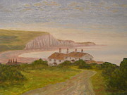 Coastguard Painting Prints - Seven Sisters Print by Pib