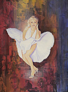 Swarovski Crystals Painting Originals - Seven Year Itch by Stapler-Kozek