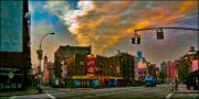 Seventh And Bleeker At Sunrise Nyc Print by Chris Lord