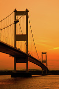 Bristol Framed Prints - Severn Bridge Sunset Framed Print by Ian Egner - Egner Photography
