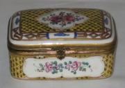 French Ceramics - Severs Pattern Hinged Box  by  Samson 