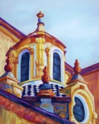 Tiles Pastels Framed Prints - Sevilla Cupola Framed Print by Candy Mayer