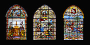 Incarnation Digital Art - Seville Cathedral Stained Glass Windows by Moshe Moshkovitz