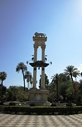 Handmade Trunk Posters - Seville Cristobal Colon Monument Spain Poster by John A Shiron