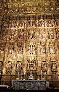 Jesus Christ Last Supper Photos - Seville Golden Wall Cathedral II Spain by John A Shiron