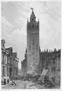 1833 Framed Prints - Seville: The Giralda Framed Print by Granger