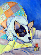 Cattle Dog Posters - Sew Sweet Poster by Lyn Cook
