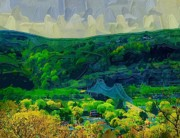 Pittsburgh Mixed Media Framed Prints - Sewickley Valley Framed Print by Chris Reed