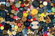 Sewing Room Prints - Sewing - Buttons - Bunch of Buttons Print by Mike Savad