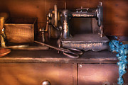 Machine Framed Prints - Sewing - New National Sewing Machine  Framed Print by Mike Savad