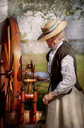 Spinning Wheel Prints - Sewing - Weaving - Big wheel keep on turning  Print by Mike Savad