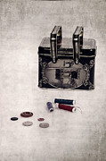 Sewing Supplies Posters - Sewing Box Poster by Joana Kruse