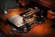 Sewing Room Prints - Sewing Machine - Sewing for small hands  Print by Mike Savad
