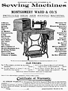 Montgomery Prints - Sewing Machine Ad, 1895 Print by Granger