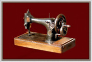 Sewing Machine Framed Prints - Sewing Machine Framed Print by Charuhas Images