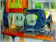 Sewing Machine Framed Prints - Sewing Machine in Harness Room Framed Print by Susan Savad