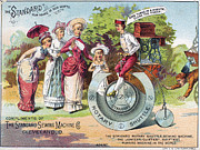 Penny Farthing Framed Prints - Sewing Machine Trade Card Framed Print by Granger