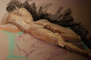 Human Pastels Prints - Sexy Print by Joy DiNardo Bradley         DiNardo Designs                     