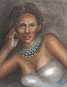African-american Pastels Framed Prints - Sexy Lady Framed Print by Alga Washington