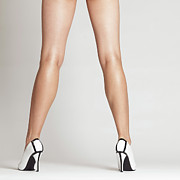 Long Legs Framed Prints - Sexy Long Legs Framed Print by Oleksiy Maksymenko