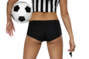 Soccer Ball Framed Prints - Sexy Referee Framed Print by Oleksiy Maksymenko