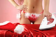 Fashion Art - Sexy Woman Preparing for Christmas Holidays by Oleksiy Maksymenko