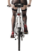 Long Photo Prints - Sexy Woman Riding a Bike Print by Oleksiy Maksymenko