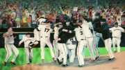 World Series Painting Acrylic Prints - SF Giants 2010 World Series Championship Celebration Acrylic Print by Pete  TSouvas