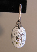 Post Jewelry - Sgraffito Enamel White and Yellow by Brenda Berdnik