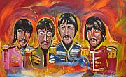 Liverpool Painting Posters - Sgt Pepper Poster by Colin O neill