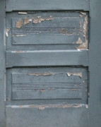 Chippy Photos - Shabby Blue Door Panels by Mg Rhoades