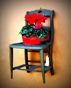 Vintage Chair Prints - Shabby Chair Print by Perry Webster
