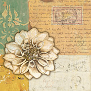 Postmark Paintings - Shabby Chic Floral 1 by Debbie DeWitt