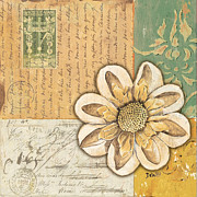 Postmarks Paintings - Shabby Chic Floral 2 by Debbie DeWitt