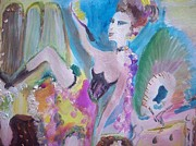 Dressing Room Paintings - Shabby chic the dancer by Judith Desrosiers