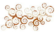Spirals Prints - Shabby Ornament Print by Frank Tschakert