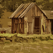 Rustic Cabin Prints - Shack Print by Bonnie Bruno
