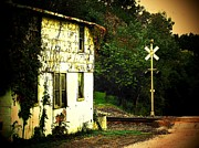 Old Houses Metal Prints - Shack by the Track Metal Print by Joyce L Kimble