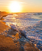 Waves Art - Shackleford Banks Sunrise by Betsy A Cutler East Coast Barrier Islands