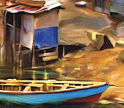 Caribbean Mixed Media - Shada District by Bob Salo