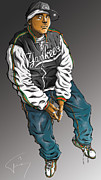 Hip Hop Drawings - Shade Sheist by Tuan HollaBack