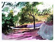 Pathway Mixed Media - Shades n shadows by Anil Nene