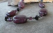 Acrylic Necklace Jewelry - Shades of Amethyst Necklace by Donna Smith
