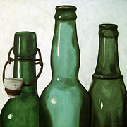 Linda Apple Originals - Shades of Green - bottles by Linda Apple