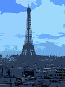 Paris Metal Prints - Shades of Paris Metal Print by Roberto Alamino